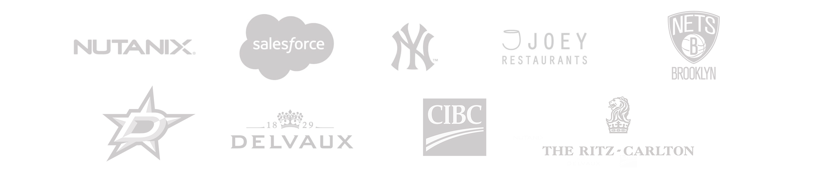 Some of those partners are: Nutanix, Salesforce, New York Yankees, Joey Resturants, BSE Global, Delvaux